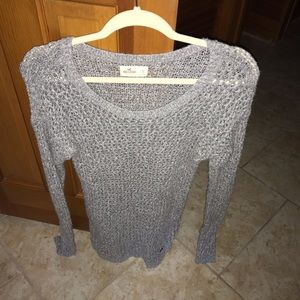 Grey Hollister Sweater